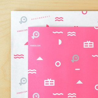 Pinkoi Wrapping Paper (Pink) - 20 Sheets