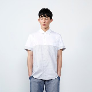 Zale Shirt Striped Short Sleeve Shirt Shirt - Gray