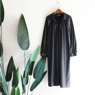 Kyoto black lacquer light sense party antique thin windbreaker jacket trench_coat dustcoat