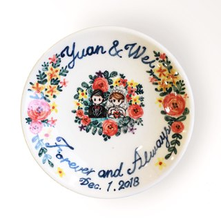 Hand-painted small dish - custom exclusive customized graphics