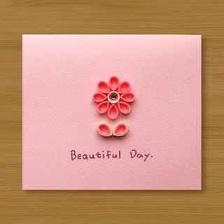 Handmade Roll Paper Luminous Card _ Warm Flower Beautiful Day _ B ... Valentine Card