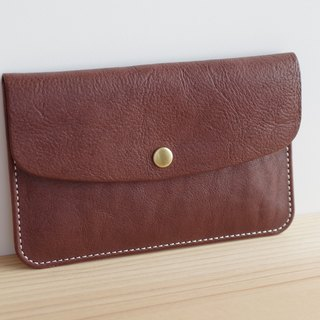 Leather passbook (present) case Chocorate
