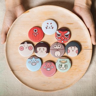 Yokai collection Button Pin Badge|middle size badge - 44mm |2 badges in each set|