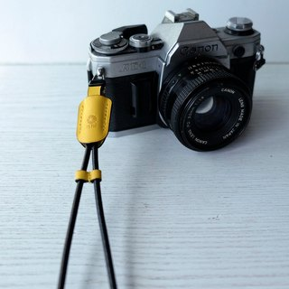 isni [camera wrist strap / leather rope ] yellow color /simple & safety design