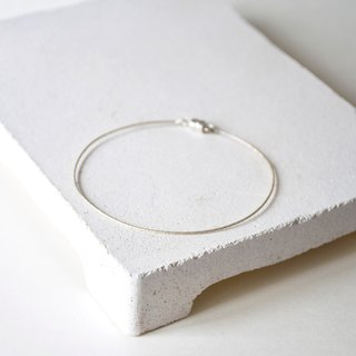 Handmade Simple Sterling Silver Bangle, Magnet Bangle