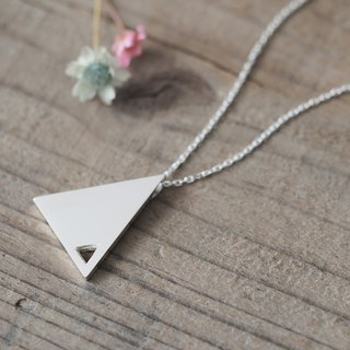 Double Triangle Long ネックレス 925 Sterling Silver