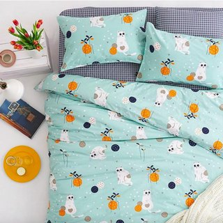 Hanada 喵 single double bed / bed bag hand-painted cat 40 cotton bedding pillowcase quilt cover