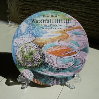 LKK Farm ※ {||||| |||||} ○ black ceramic heat magical water coaster