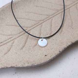 Handmade x necklace round shell 1cm round wax rope wax line necklace