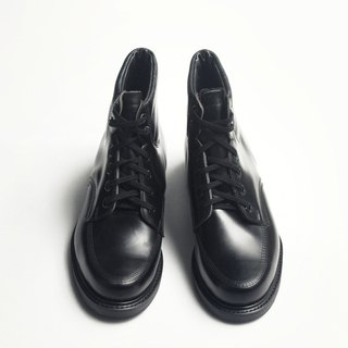 70s 美製黑色工作踝靴|Knapp 6-eye Work Boots US 8D EUR 40 -Deadstock