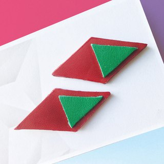 Sonniewing's Diamond Stud Leather Earrings