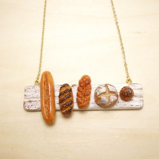 |PANE| Polymer Clay 16k Gold-Plated Brass Necklace