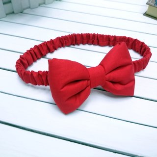 Red three-dimensional Q cotton bow hair band