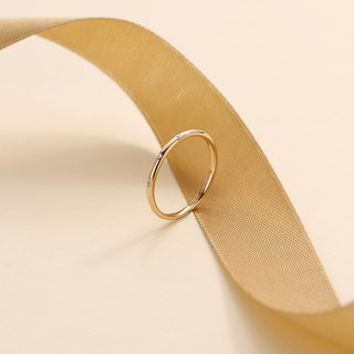 【PurpleMay Jewellery 客製訂單-補差價】18k Yellow Gold Diamond Thin Ring Band R012
