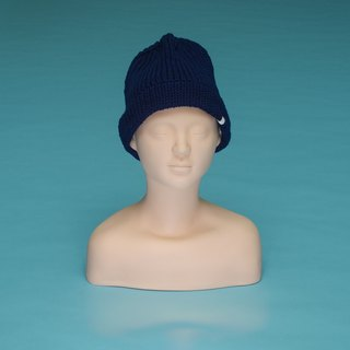 Plain - dark blue OTB016 hand-woven wool cap