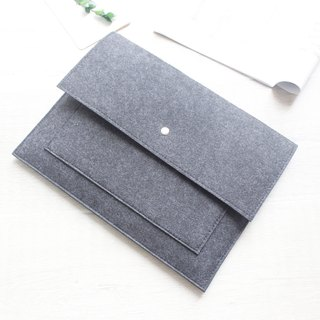 Original Pure Handmade Light Gray Felt Microsoft Computer Case Felt Set Pen Bag Computer Case Surface Book (can be tailored) - 023