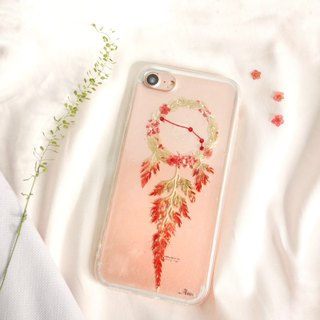 Aries Pressed Flower Dreamcatcher Phone Case | 12 Zodiac