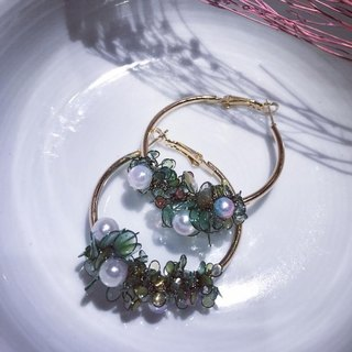 Angel flower baskets [green flower pearl]