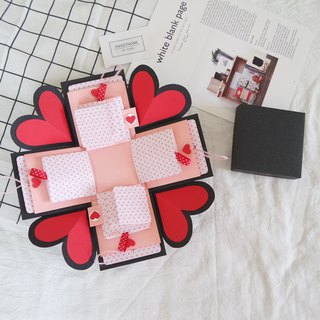 Sweet Home Gift Box Card - Star Garden x two-sided page flip card version - handmade cards / Valentine's Day cards / Explosion Card / Explosion Box