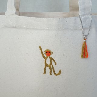 "the oriental zodiac Tote bag with hand embroidery ""monkey"" [order-receiving production]"
