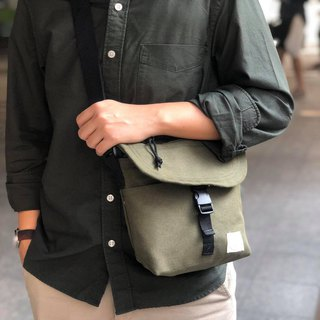 New Green camo Basic Messenger Canvas Bag / everyday bag / travel /weekend