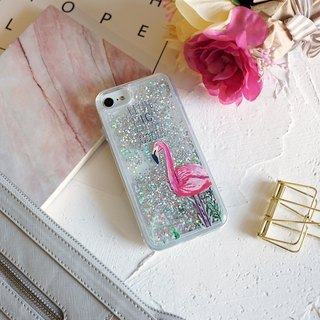 PATTERN LAB | Liquid Glitter Case for iPhone 6/6S/7/8 - Flamimgo