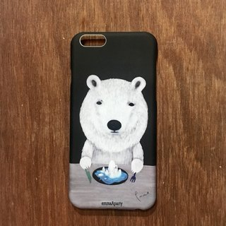 emmaAparty illustrator phone case: polar bear