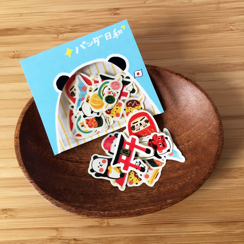 Around the World with Panda - Japan Mini Stickers Set