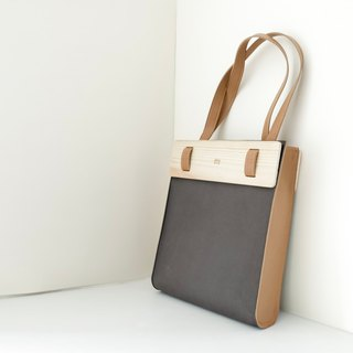 Wooden Tote Bag (Charcoal)