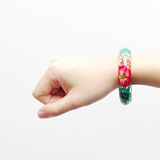 FlowerSays / Chrysanthemum Rose Real Flower Bracelet / Two-color Collection /