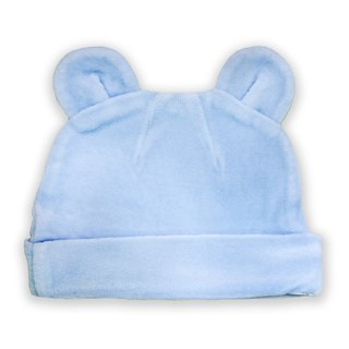 [Deux Filles organic cotton] cotton velvet cap - light blue solid color