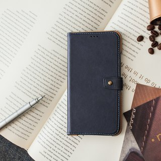 iPhoneXR Slipcase Series Leather Case - Blue