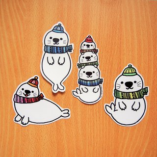 Waterproof Sticker Pack - Seal (4 in)