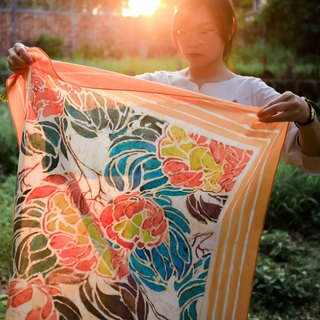 Handmade ancient batik shawl