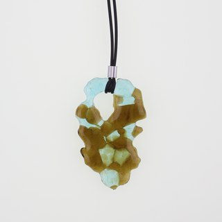 Marbling - Fused Glass Necklace