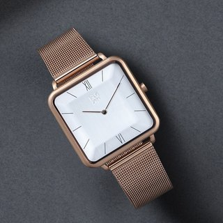 THIN 5011 Fashion Minimal Crystal Square Watch - Rose Gold