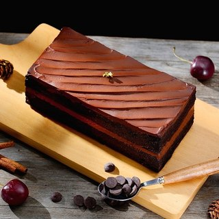 Black brick royal chocolate cake