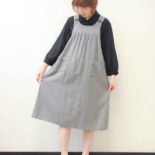 …{DOTTORI :: DRESS}Black and White Checkered Baby-doll Dress