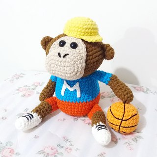 MonkeyM monkey basketball player hand crocheted