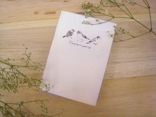 """Hello! Sparrow"" A6 Notepad"