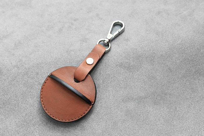 KAKU hand leather goods gogoro key leather case hook and loop style