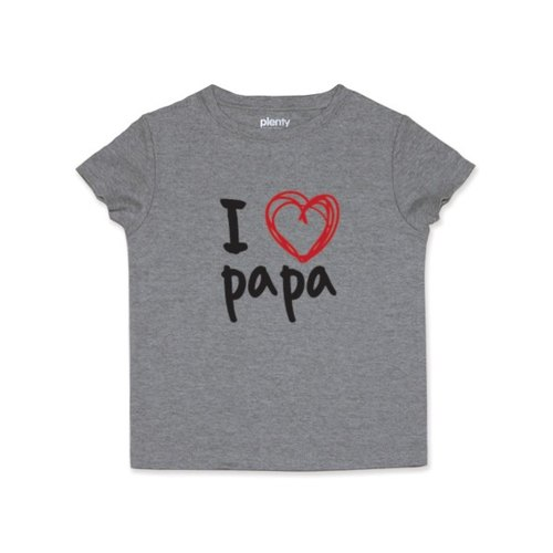 Short sleeve Tshirt I❤papa black money