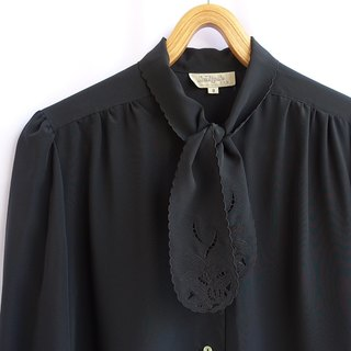 │Slowly │ classic black - ancient shirt │ Japanese system. Vintage. Retro