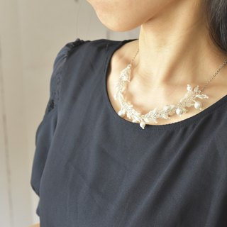 plastic pearl leaf necklace  chain 45cm 50cm 55cm