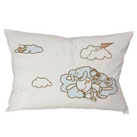"""Foufou"" pillow cover (single-entry) - Sunny (gray / white)"
