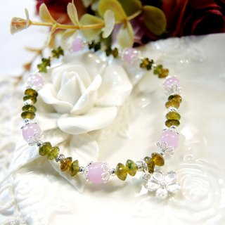 """Spring song Spring Song"" Purple Lithuania yellow green tourmaline 925 silver bracelet design"