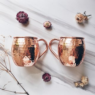 2 Moscow Mule Copper Mugs - Barrel Mug Shape - 100% Pure Copper