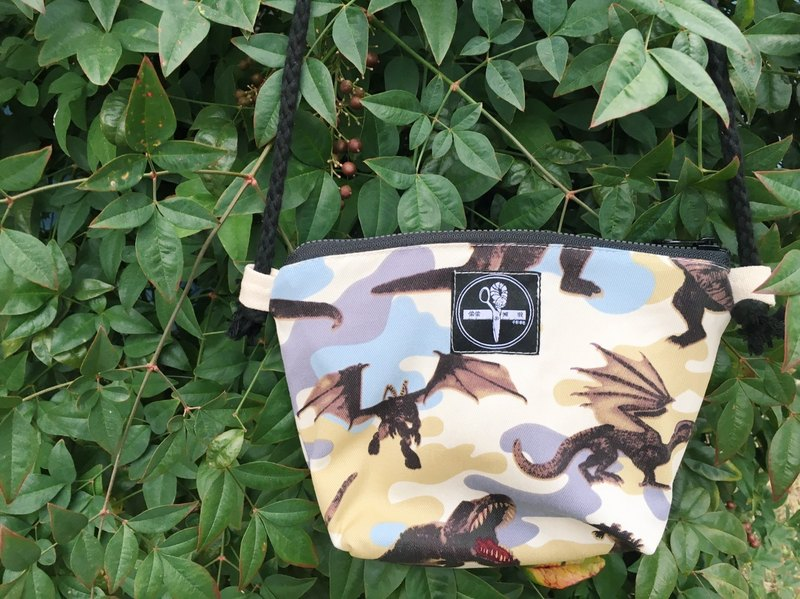 toutoubags / small square shoulder bag-camouflage dinosaur
