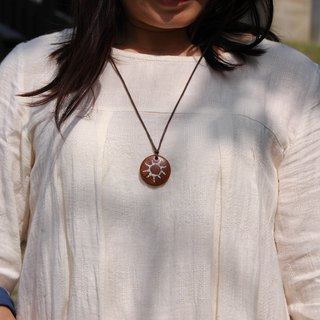 Wooden necklace wood Pendant