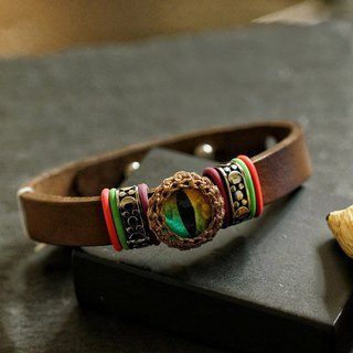 美國貓眼皮手帶 ( Cateye Leather Bracelet )